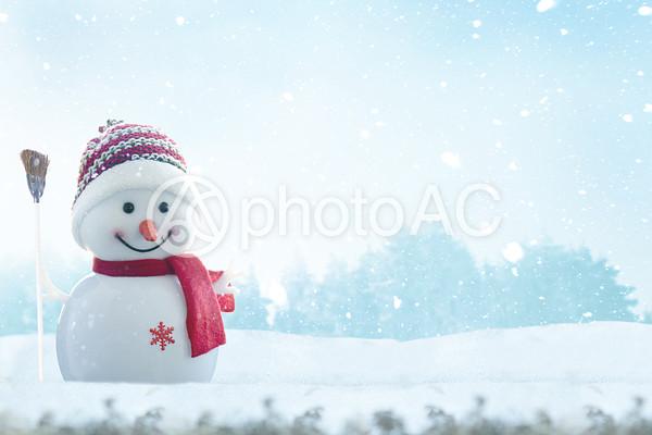 クリスマスの雪だるまの写真
