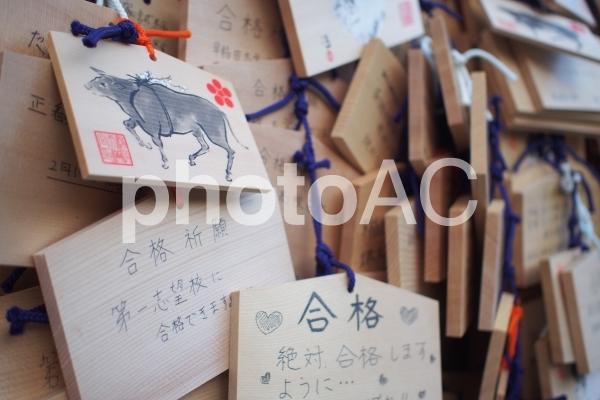 合格祈願 絵馬の写真