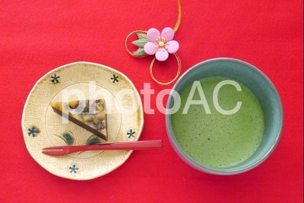 羊羹と抹茶の写真
