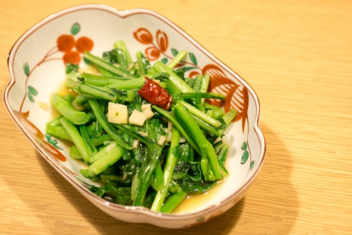 青菜炒め 青菜 炒め物 炒める おつまみ 食事 料理 家庭料理 中華料理 野菜