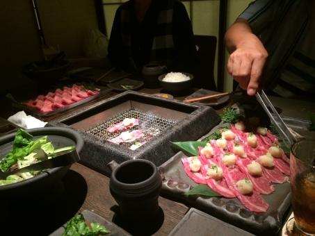 焼肉 飲み会 パーティ ディナー 忘年会 歓迎会 送別会 網 炭火 牛肉 beef barbeque korean drinking party dinner farewell welcome