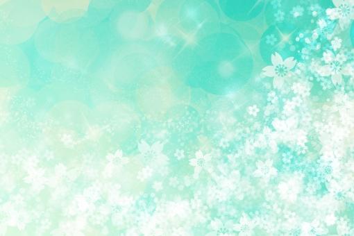 春 はる 4月 入学式 入学 卒業式 卒業 お祝い 祝い きらきら キラキラ 輝き サクラ さくら 桜 桜吹雪 花柄 和風 和柄 和 光 淡い 黄緑 青 背景素材 背景 素材 テクスチャ テクスチャー 桜背景