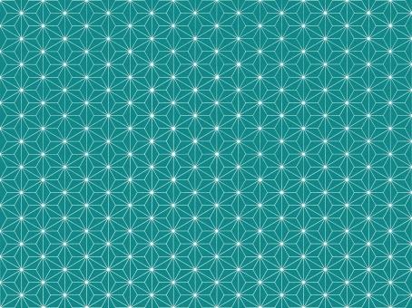和柄 麻の葉柄 麻柄 伝統 テクスチャ 背景 素材 風呂敷 包 ふろしき 青緑 bluegreen