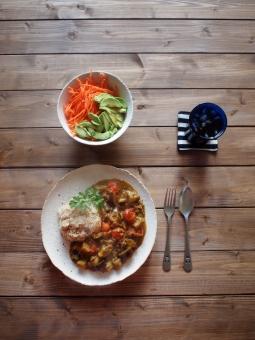 カレー すぱいす スパイス 漢方 コリアンダー ターメリック うこん クミン カイエンペッパー spice curry homemade サラダ アボカド 玄米 なす とまと tomato eggplant