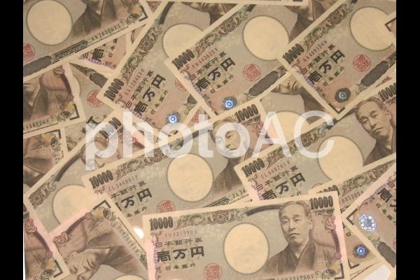 一万円テクスチャ背景の写真