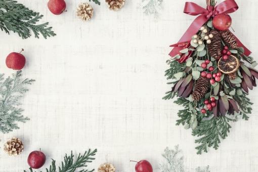 クリスマススワッグのフレームの写真