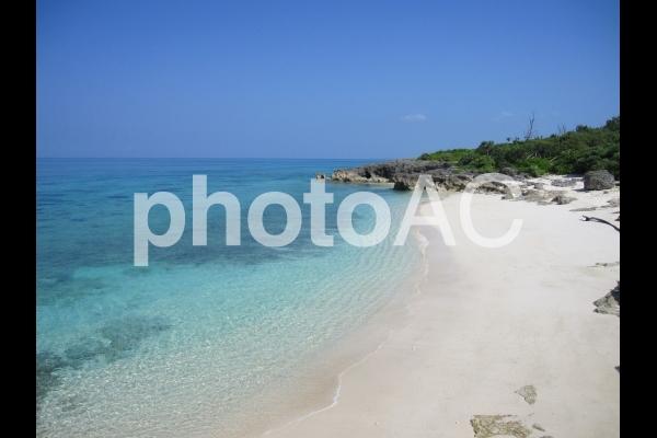 沖縄の小さなプライベートビーチの写真