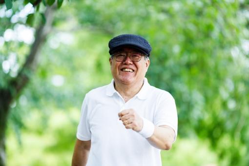 シニア男性 ポートレートの写真