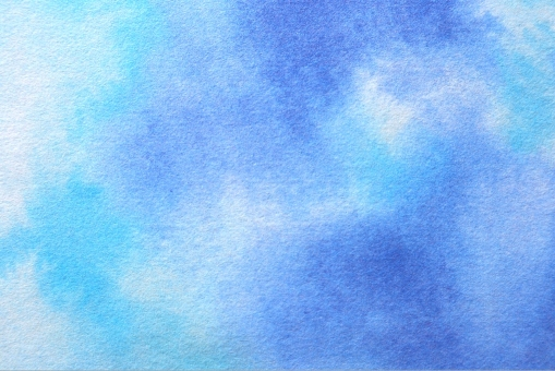 和紙 水彩 ブルー系の写真