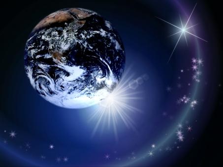 地球と輝きの写真