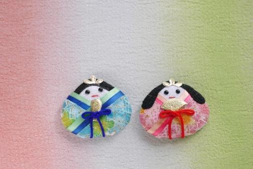 ひな祭り 雛祭り ひなまつり お雛様 おひな様 桃の節句 和 ちりめん 布 和柄 男女 夫婦 ピンク 春 ひな人形 雛人形 ひな飾り グリーン 緑 3月 小物 雑貨 ひな飾り おひなさま ひなまつり ひな人形