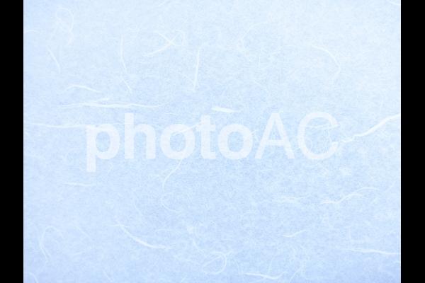 青の和紙テクスチャ背景素材の写真