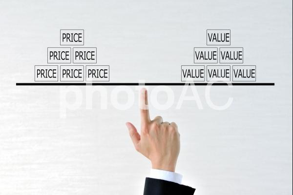 価格と価値のバランスの写真