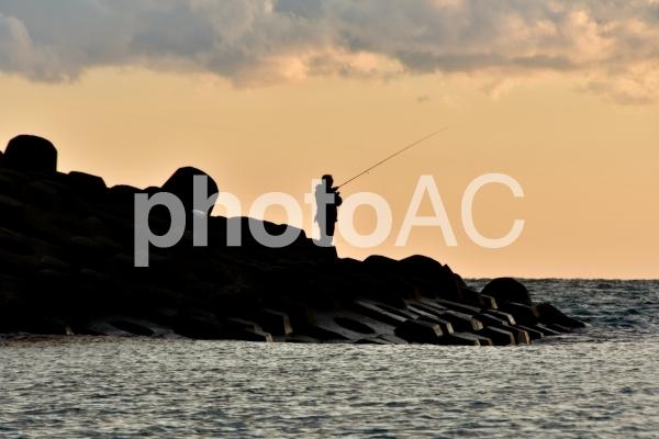 風景 磯釣りの写真