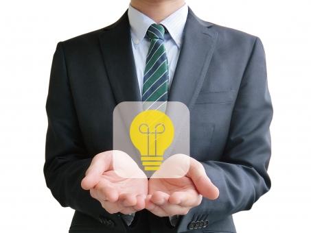 ビジネス ビジネスマン サラリーマン ふきだし 吹き出し 台詞 せりふ イラスト 人物 指 手 アップ アイコン パーツ 人差し指 指さす 電球 ひらめく 閃く ひらめき 閃き ヒント ポイント シンプル アイディア アイデア 思いつく ジェスチャー サイン アプリ