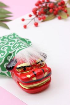 年賀 年賀状 正月 お正月 年賀素材 年賀状用素材 正月素材 和小物 和風 和 素材 伝統 飾り 正月飾り 新年 獅子舞 千両