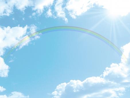 空 雲 晴れ 夏 屋外 バック 素材 青 無人 積雲 白 広角 爽快 積乱雲 背景 バックグラウンド 爽やか 青空 水色 青 寒色 エコ 環境 ブルー テクスチャ 風 気流 バックグランド バックイメージ 背景素材  バックイメージ 背景デザイン 壁紙 透明感 潤い グラデーション グラフィック 柔らかい 自然 ナチュラル 風 そよ風 真夏 初夏 春 スカイブルー 天空 太陽 日光 日中 合成 天気 大空 光 快晴 景色 風景 虹 レインボー