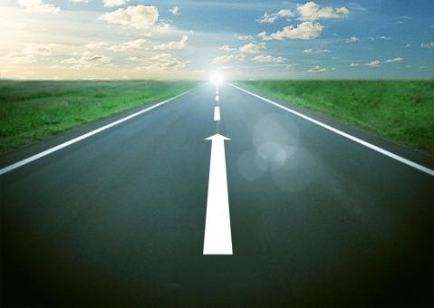 成功への道イメージの写真
