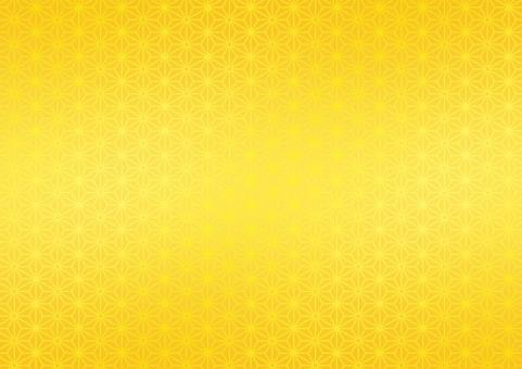 和柄 金屏風 あさのは 麻の葉 伝統 文様 日本 和風 雅 お正月 慶事 お祝い 背景 テクスチャー バックグラウンド 金 ゴールド 黄色 イエロー 山吹色