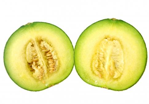食べ物 野菜 カット 果実 種 青果 メロン 切り抜き 断面 ワタ 半分こ 一年生草本植物 背景透過