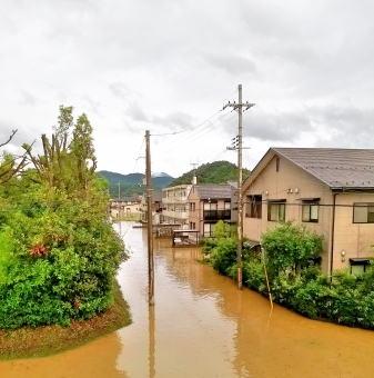 洪水被害の写真