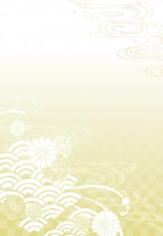 挨拶 明るい 花 水 チェック 枠 キレイ 綺麗 きれい 黄色 きいろ イエロー yellow 川 河 素材 背景 海 あいさつ 黄 water 線 パーツ 和 長方形 上品 和風 飾り 波 水面 風流 グラデーション 美しい 模様 金 金色 ゴールド ゴージャス 年賀状 菊 組み紐 華やか 着物 めでたい 高級 縦 和柄 金箔 市松模様 花模様 せいがいは 紋様 青海波 花紋 飾り枠 文様 流水 組みひも 雅 組紐 渋い 川面 き たて Chrysanthemum wave 地紋 Gold ご挨拶 波模様 beautiful Japanese 縦向き 和素材 check 市松 gradation 縦書き ごあいさつ 和模様 菊紋 チェッカー pattern くみひも 流水紋 和文様 花文様 そげ soge 青海波文様 和紋様 和紋 菊模様 菊紋様 菊文様 菊柄 花紋様 たてがき 縦むき たてむき