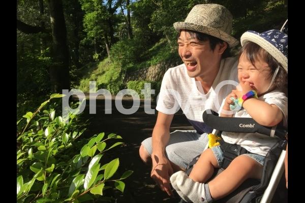 笑顔の親子4の写真