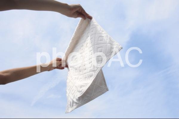 洗濯物を干すの写真