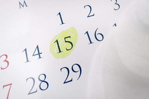 生理用品 生理 月経 経血 血  生理用 女性 性 女 女の子 女子 清潔 清潔感 身だしなみ 新品 新しい 未使用  カレンダー 暦 日にち 月日 予定日 生理予定日 マーク 印 しるし 15日 ナプキン 生理用ナプキン