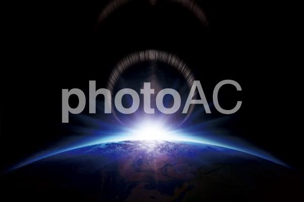宇宙と地球 ガイアの写真