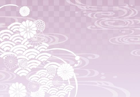 そげ soge 青海波文様 青海波 せいがいは 模様 紋様 文様 和柄 和模様 和紋様 和文様 地紋 和紋 波模様 着物 海 河 川 川面 水 水面 波 線 流水 流水紋 菊 菊模様 菊紋様 菊文様 菊紋 菊柄 花 花模様 花文様 花紋 花紋様 組紐 くみひも 組み紐 組みひも 市松 市松模様 チェック チェッカー 綺麗 きれい キレイ 美しい 風流 雅 飾り 高級 華やか 上品 wave water chrysanthemum pattern beautiful japanese check 和素材 素材 パーツ ごあいさつ ご挨拶 あいさつ 挨拶 グラデーション gradation ピンク pink 桜色 桜 春 spring フレーム 背景 枠 飾り枠 和風 和