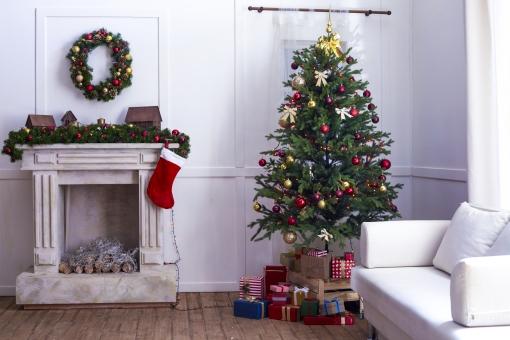 クリスマス仕様の部屋2の写真