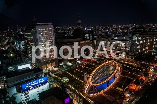 名古屋テレビ塔から見えるオアシス21の写真