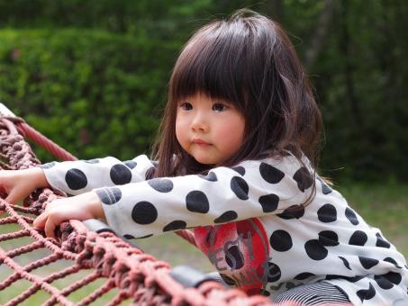 子ども 子供 女児 幼児 自然 園児 かわいい 緑 泣きべそ 怖い 公園 涙 泣く 泣顔 japanese girl