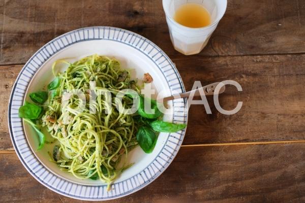 ジェノベーゼスパゲッティの写真