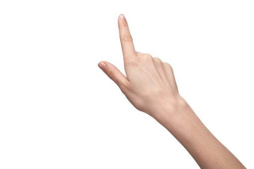 手 右手 手指 人差し指 親指 手の甲 手首 ハンド 指す 示す 指し示す 押す 触る 触れる 伸ばす 目指す 指差し 手話 前方 前向き 上方 上向き 指示 目標 ハンドポーズ ポーズ ハンドパーツ パーツ 白バック 白背景