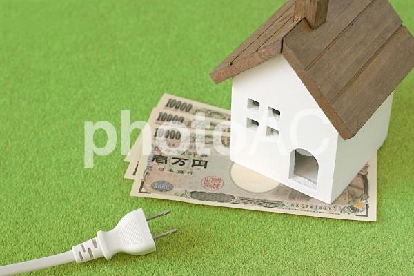 家とコンセントの写真