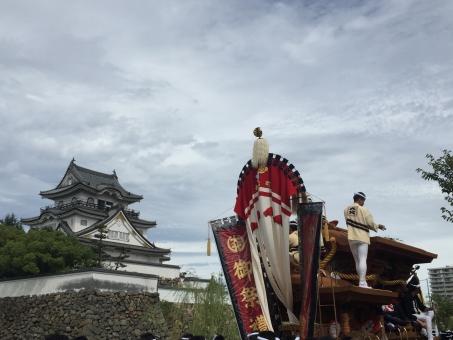 空 祭り 伝統 城 だんじり まつり 岸和田