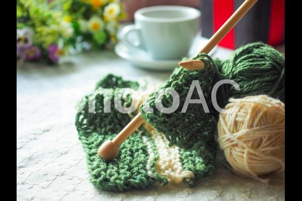 手編みのプレゼントの写真