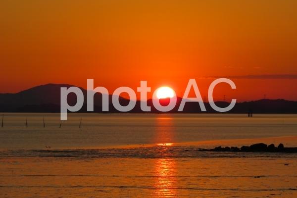 不知火海の入日の写真
