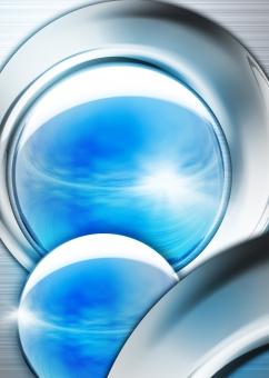 クロム 鉄 スチール 金属 金属光沢 球体 玉 光沢 光 青 ブルー クローム シルバー 銀 チラシ パンフレット カタログ DM フライヤー 表紙 背景 背景素材 バック バックグラウンド テクスチャー テクスチャ 会社案内 IT テクノロジー クリスタル