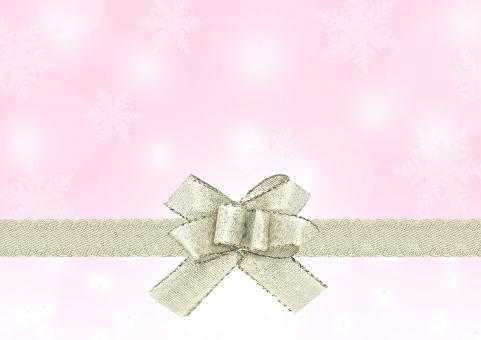 クリスマス 冬 背景 コピースペース テクスチャ テキストスペース 雪 雪の結晶 結晶 リボン ギフト プレゼント 12月 Christmas Xmas 壁紙