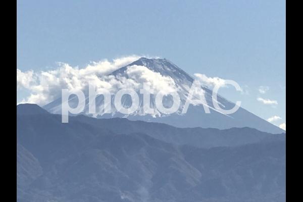 夏の富士山の写真