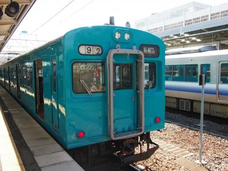 和歌山線の車両 105系 普通電車 電車 和歌山線 jr西日本