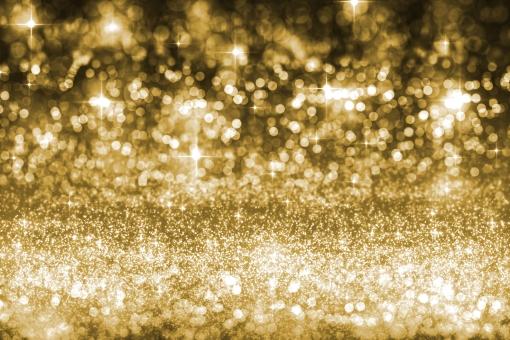 キラキラ背景ゴールドの写真