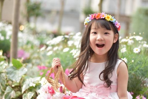 子供 子ども こども お花 花 花冠 春 ドレス 女の子 mdfk023