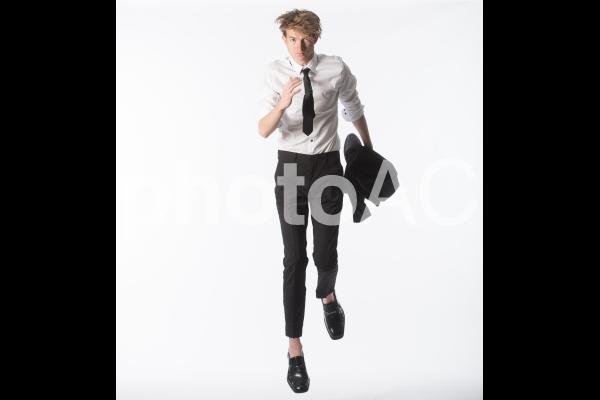 ポーズを取る男性22の写真