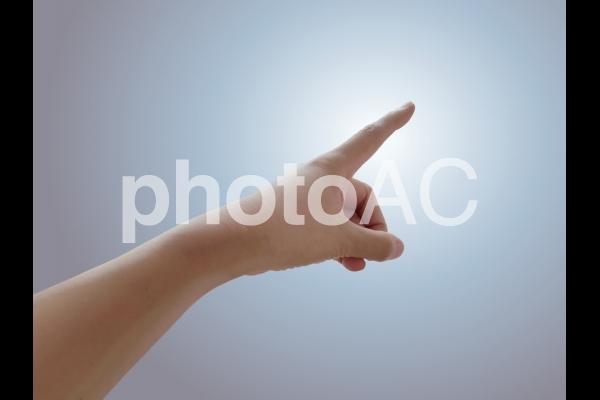 指差しの写真