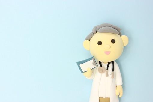 クレイ クレイアート クレイドール ねんど 粘土 クラフト 人形 アート 立体イラスト 粘土作品 かわいい 人物 仕事 働く 医療 福祉 介護 医者 お医者さん ドクター 先生 白衣 病院 診察