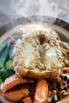 毛ガニ けがに ケガニ 毛蟹 カニ かに 蟹 鍋 なべ ナベ 冬 料理 土鍋 海鮮 蟹爪 かにつめ 食卓 食事